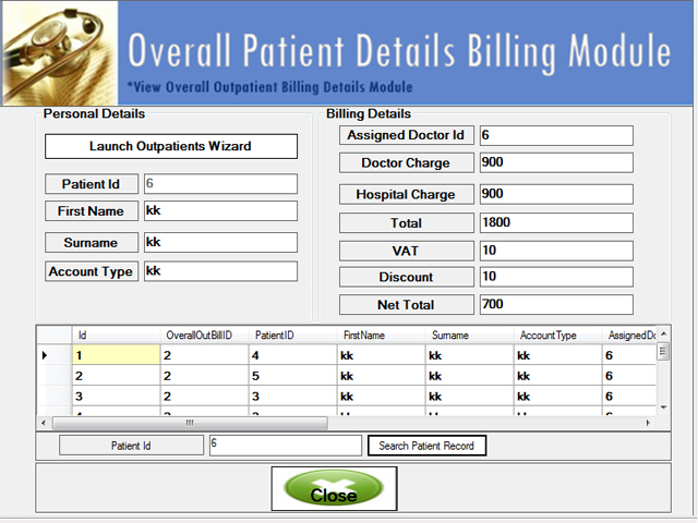 Advanced Hospital Management System Screenshots